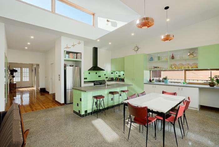 farbe mintgrün ideen zum einrichten von einer modernen küche küchenfarbe grün esszimmer