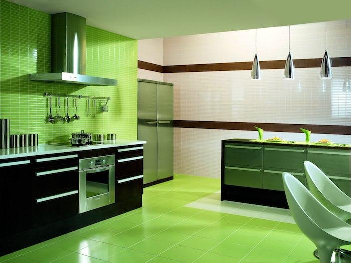 mint kücke alles grün zu hause ist es nicht viel zu übertrieben grüner boden grüne möbel