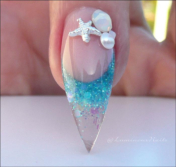 nageldesign galerie vielfalt an ideen zum schönen nageldesign mit perlen und steinen glitzer maniküre sommernägel meeresnagel