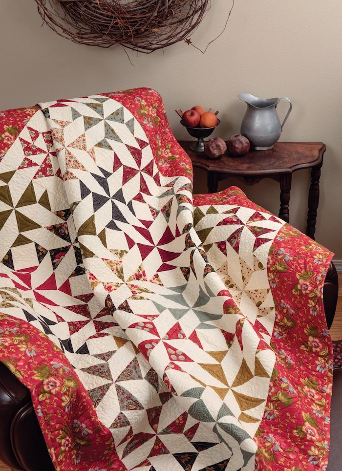 How do I sew a patchwork blanket?
