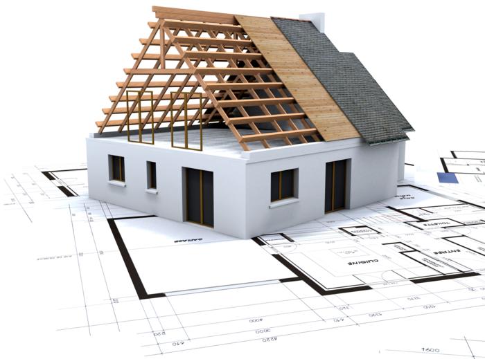 Rohbau besteht aus Fundament, Mauerwerk und Dachstuhl, Planung und Realisierung