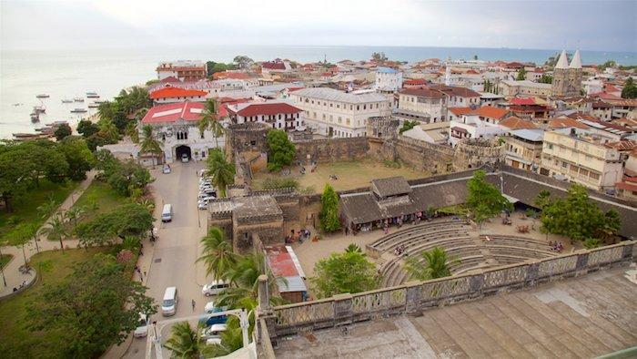 sansibar insel foto von oben von dem altstadt von yanyibar stone town bilder von oben aussicht [ber sansibar