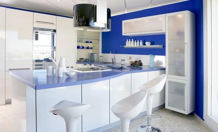 küche vorher nachher weißblaue küche designer entscheidungen für das zuhause