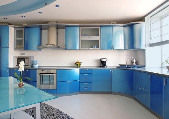 designer küchen blaue küche ausstatten blaue nuancen in der küche blau und grau