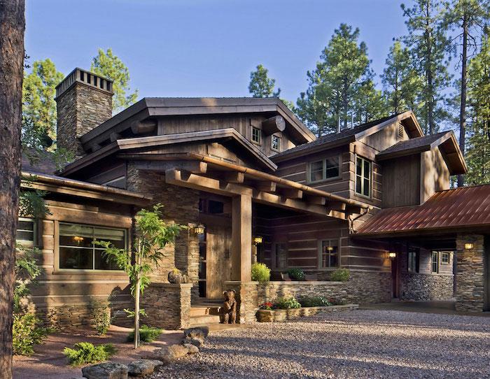 villa in den bergen schönes holzhaus modernes haus luxus architektur gebirge