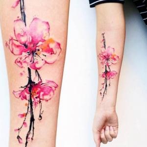 Kirschblüten Tattoo: 77 coole Ideen und Infos über ihre symbolischen Bedeutungen