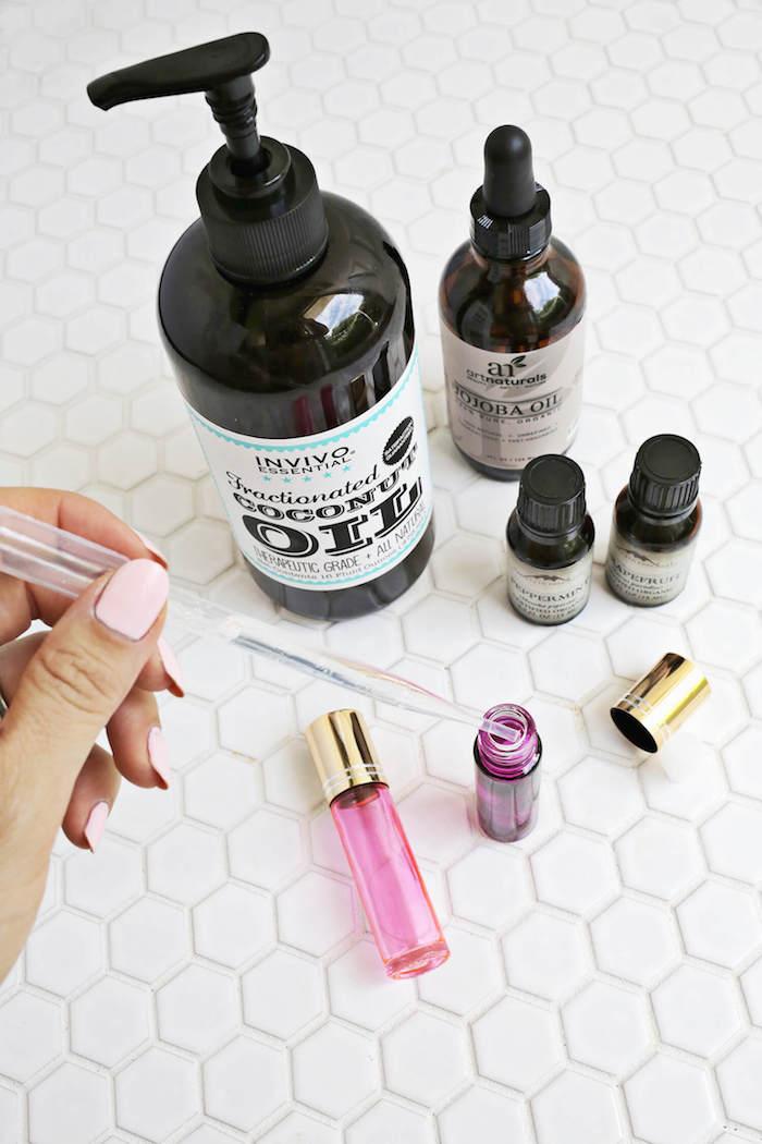 parfum selber machen, parfüm mit zitrusnote, zitronen- und grapefruitöl