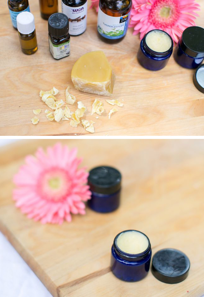 naturkosmetik selber machen, festes parfüm aus bienenwachs und kokosöl