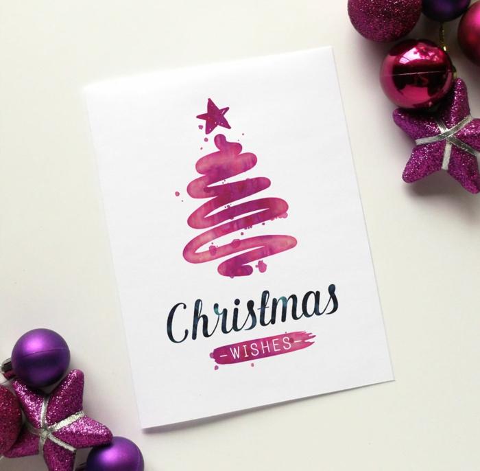 1001 ideen zum thema weihnachtskarten basteln. Black Bedroom Furniture Sets. Home Design Ideas
