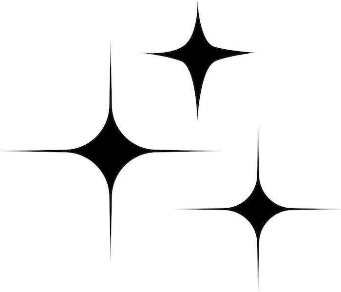 tattoo stern - drei schwarze große sterne - idee für einen stern tattoo