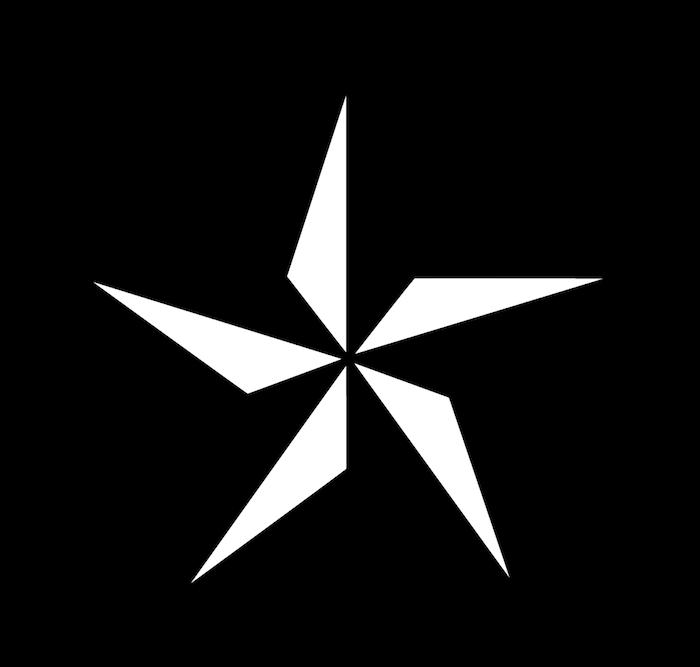 tattoo sterne - eine idee für eine schwarze tätowierung mit einem großen schwarzen stern