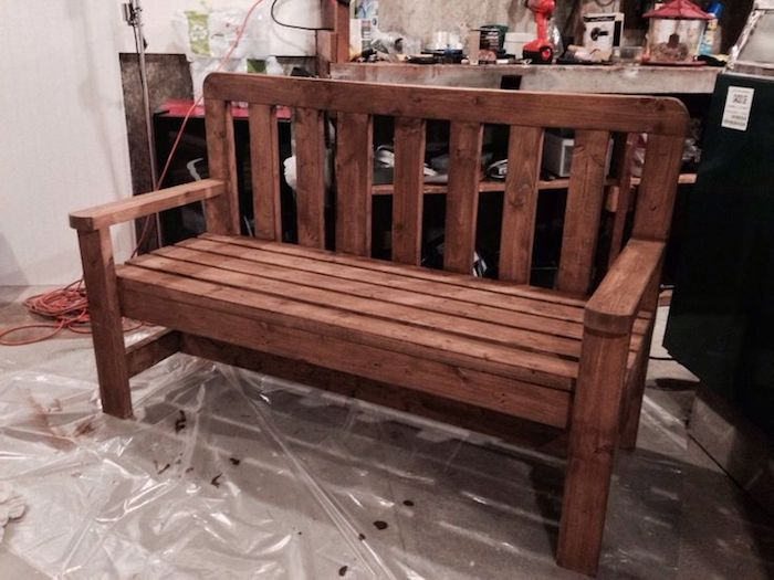 Garden bench build yourself - 45 pictures and instructions!