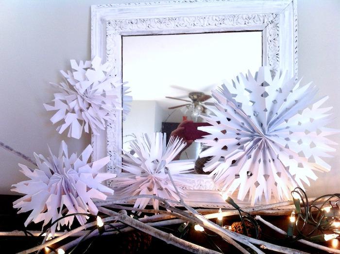 1001 ideen f r schneeflocken basteln mit anleitungen for Fensterdeko weihnachten basteln papier