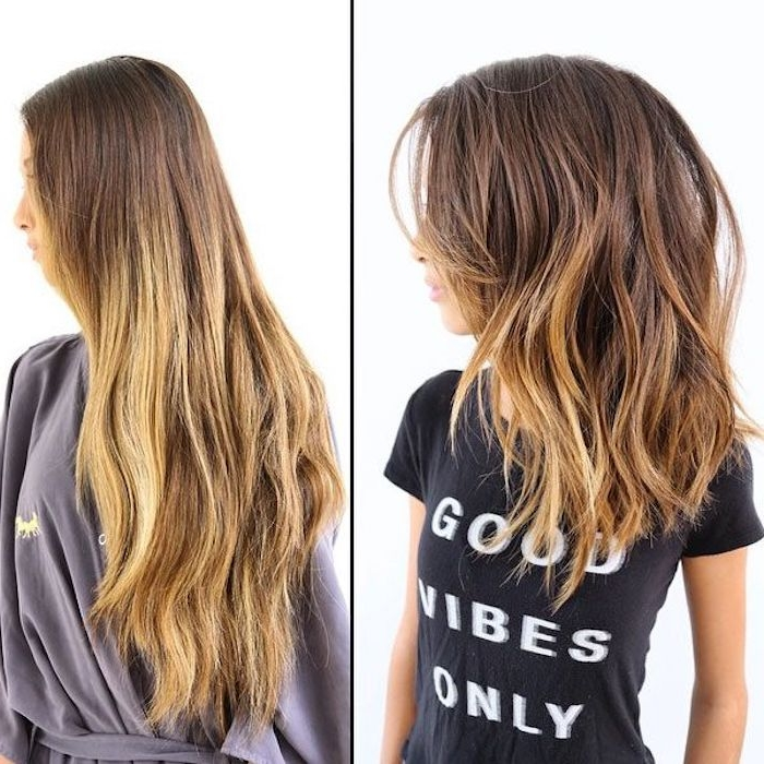 frisur mittellang oder super lang mittellange bob haare sieht besser aus schöne idee ombre blond