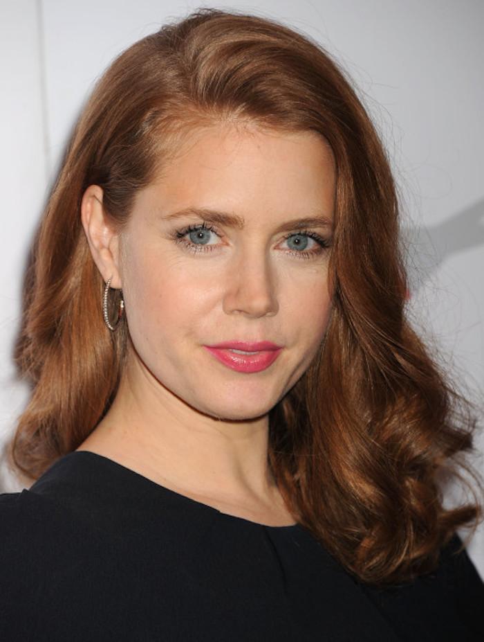 frisuren schulterlang gingerhead rote haare schön gestalten locken elegant gestalten schön