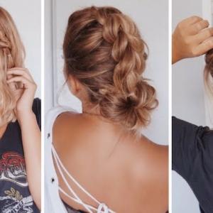 73 glänzende DIY Frisuren für mittellange Haare zu Weihnachten