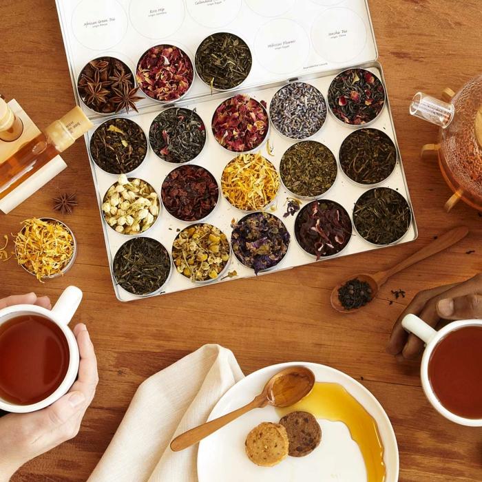 Weihnachtsgeschenke für Männer, Geschenkidee für Teeliebhaber, verschiedene Teearten