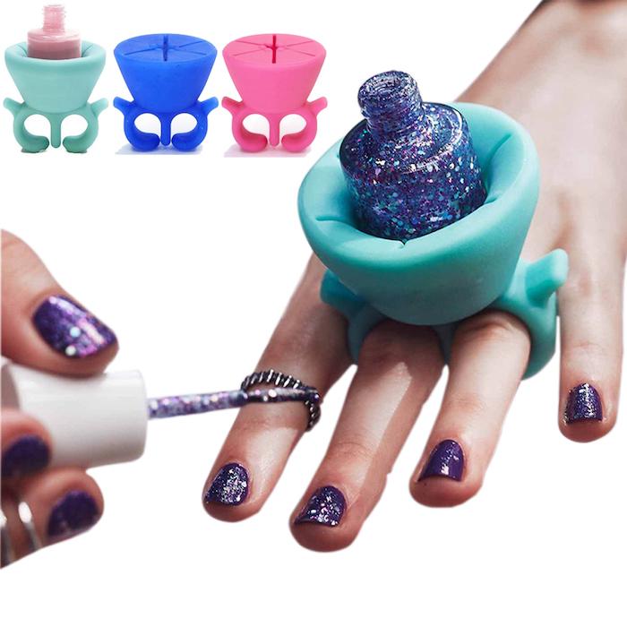 weihnachtsgeschenk für beste freundin nagellackhalter lack lackieren glitzer maniküre nageldesign
