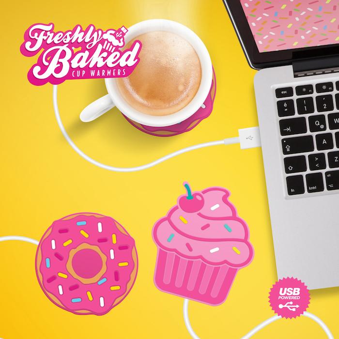 geschenk für beste freundin die tasse immer warm halten am büro schreibtisch tassenaufwärmer in der form von donuts
