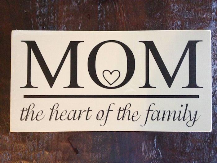 Weihnachtsgeschenke für Eltern - eine weiße Tabelle mit schwarzen Buchstaben