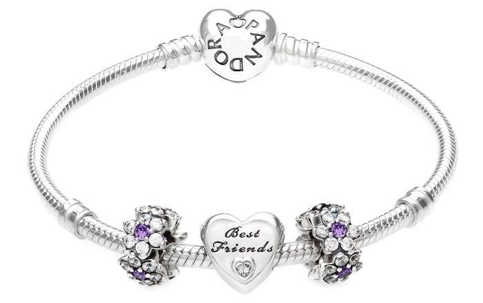geburtstagsgeschenk beste freundin herzchen deko perle für das armband armbandideen geschenk für die beste freundin