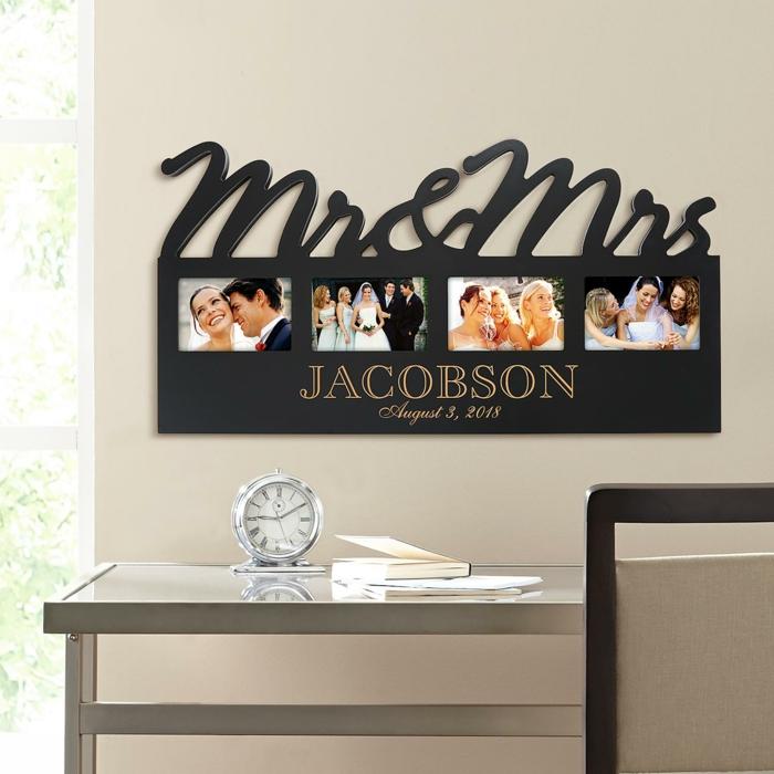 Weihnachtsgeschenk für den Ehemann, Fotorahmen mit Bildern von der Hochzeit, personalisiertes Geschenk