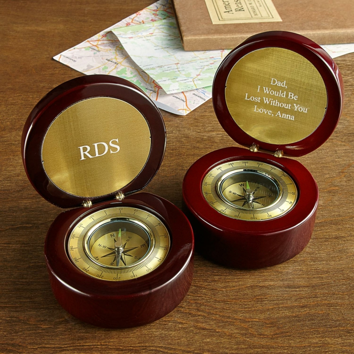 Originelle Geschenkidee zu Weihnachten, Kompass schenken, ohne dich verloren, personalisiertes Geschenk