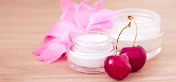 gesichtscreme selber machen, creme mit kirschen, nachtscreme aus naturprodukten