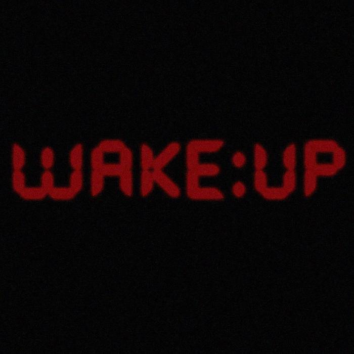 Es ist Zeit zum Aufstehen sagt den Wecker und wünscht schönen Guten Morgen
