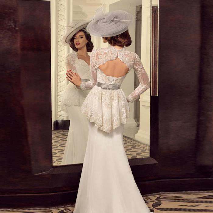hochzeitskleider spitze, meerjungfrau kleid im vintage stil, vintage braut