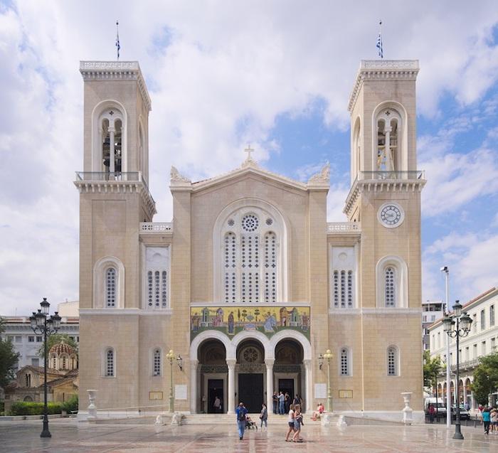 griechenland athen gebäude die faszinieren kirche orthodox weiße gebäude architektur inspiration