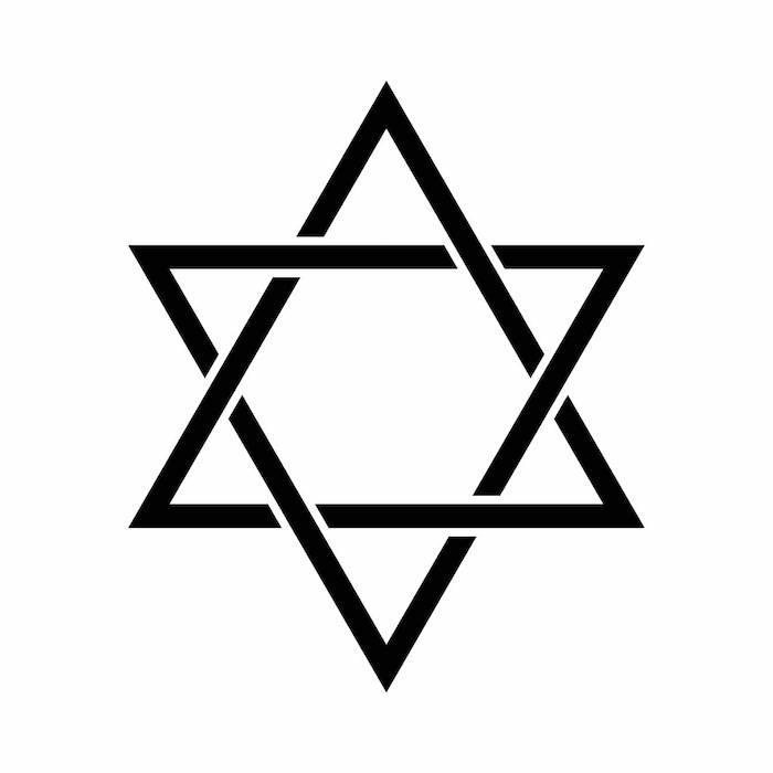 sehr großer schwarzer stern - idee für eine schwarze tätowierung mit einem schwarzen stern - sterne tattoo