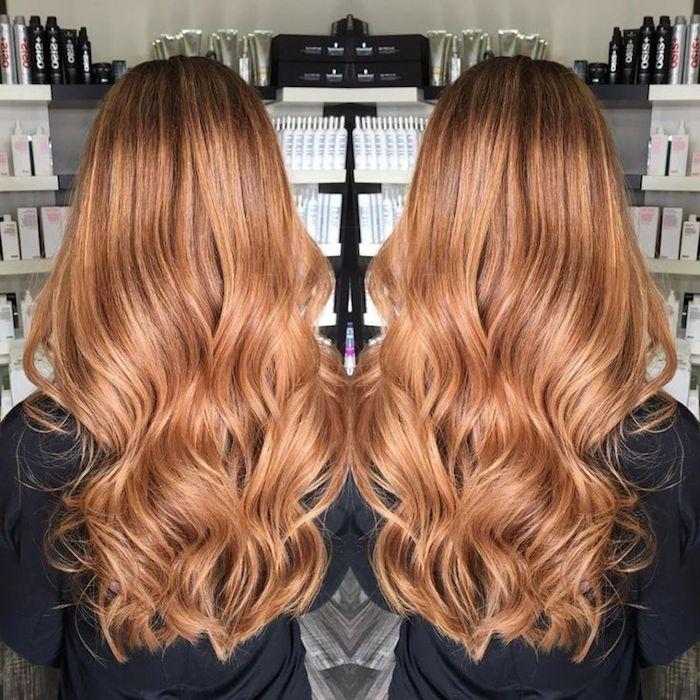 karamell braune haare, honigfarbene haare mit braunem ansatz