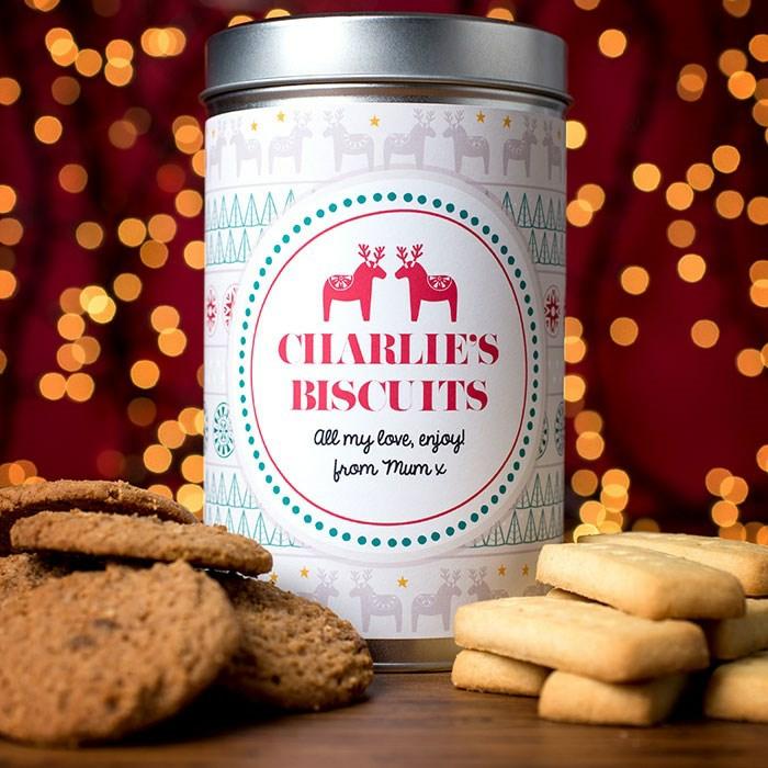 Kleine Geschenke für Männer zu Weihnachten, Box voll mit Weihnachtsplätzchen, personalisiertes Geschenk