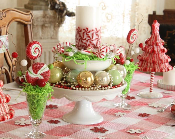 weihnachten deko bunte tischdeko ideen mädchenhafte tischdekorationen zu weihnachten shabby chic einrichtung und deko