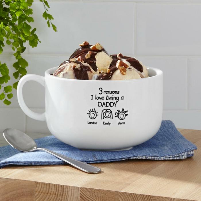 Personalisierte Tasse zu Weihnachten schenken, Weihnachtsgeschenk für Vater auswählen, vielfältige Ideen