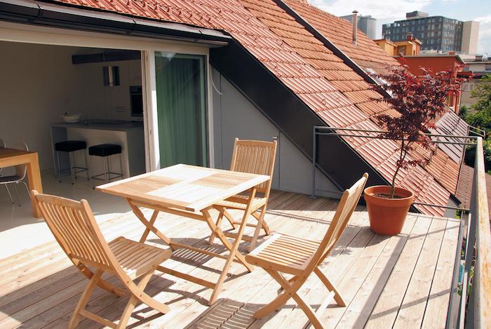 dachgeschosswohnung einrichten wohnung mit terrasse balkon auf dem dach dachgeschoss mansarde oder maisonette wohnideen