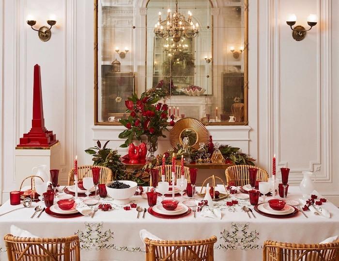 bilder weihnachten elegantes wohndesign einrichten und dekorieren zu weihnachten weiß golden und rot die festlichen farben