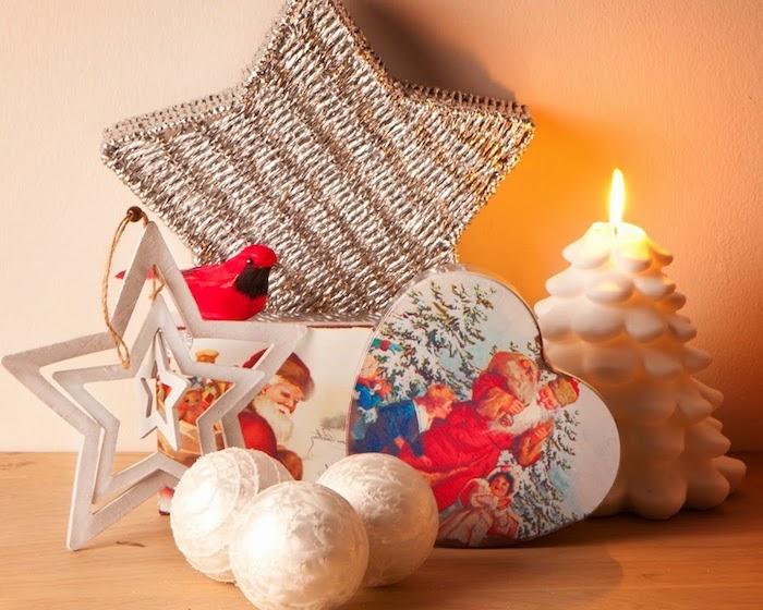 bilder weihnachten winterdeko ideen sterne herzchen bäller tannenbaum deko ideen
