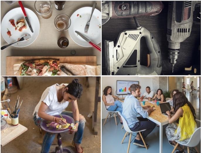 das abendessen mit frenden mitteilen technik zusammen nutzen ideen kunst workshop für jugendlichen