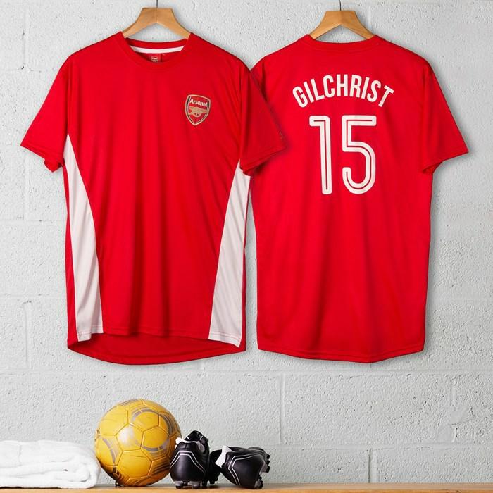 Weihnachtsgeschenk für Fußballfans, Arseln T-Shirt mit dem eigenen Namen, Geschenk für den Freund auswählen
