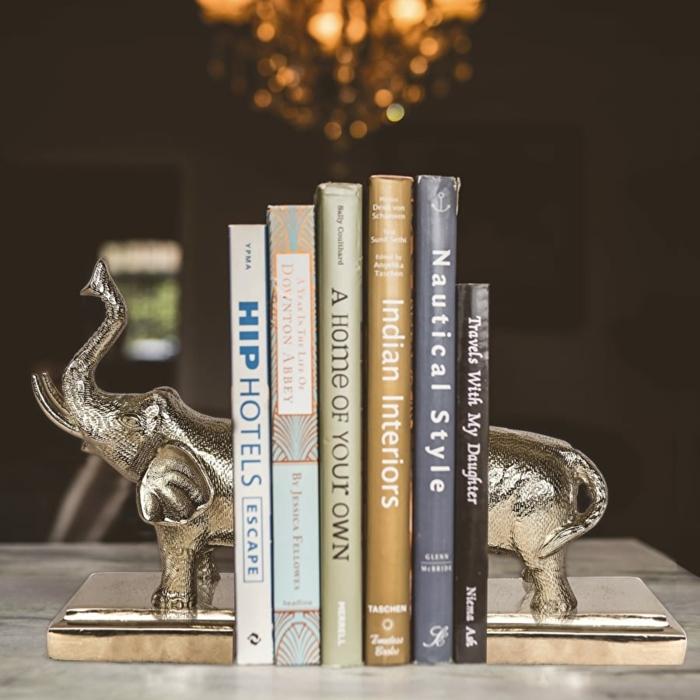 Buchständer- silberner Elefant, Geschenkidee zu Weihnachten zum Inspirieren, schnell und einfach Geschenke für alle auswählen