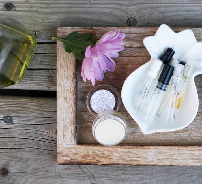 parfüm für dich, bio-kosmetik selbst herstellen, kosmetik organizer