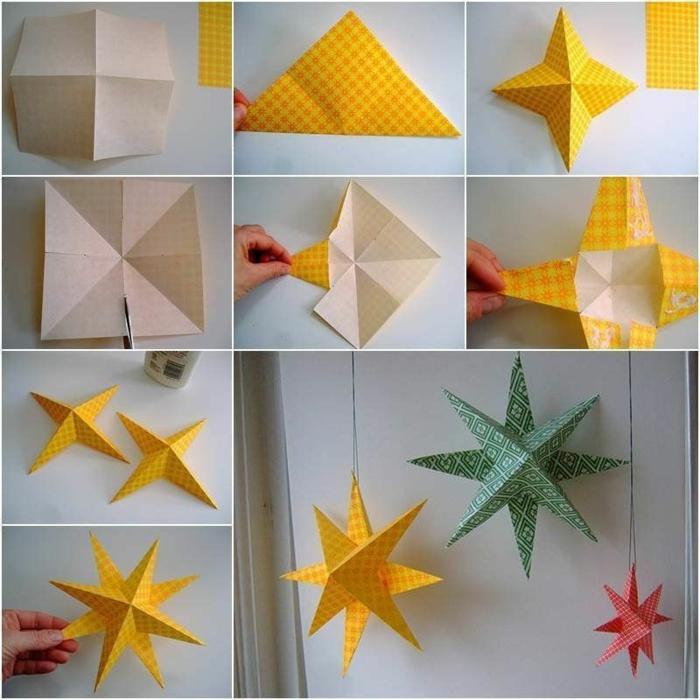 schneeflocke aus papier selber machen origami schneeflocke anleitung vorlage schneeflocke schritt für schritt