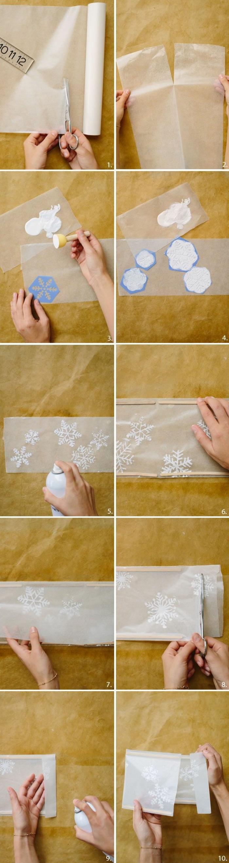 schneeflocken basteln anleitung aus wachspapier acrylfarbe und schneeflocken schablone bastel vorlagen weihnachten