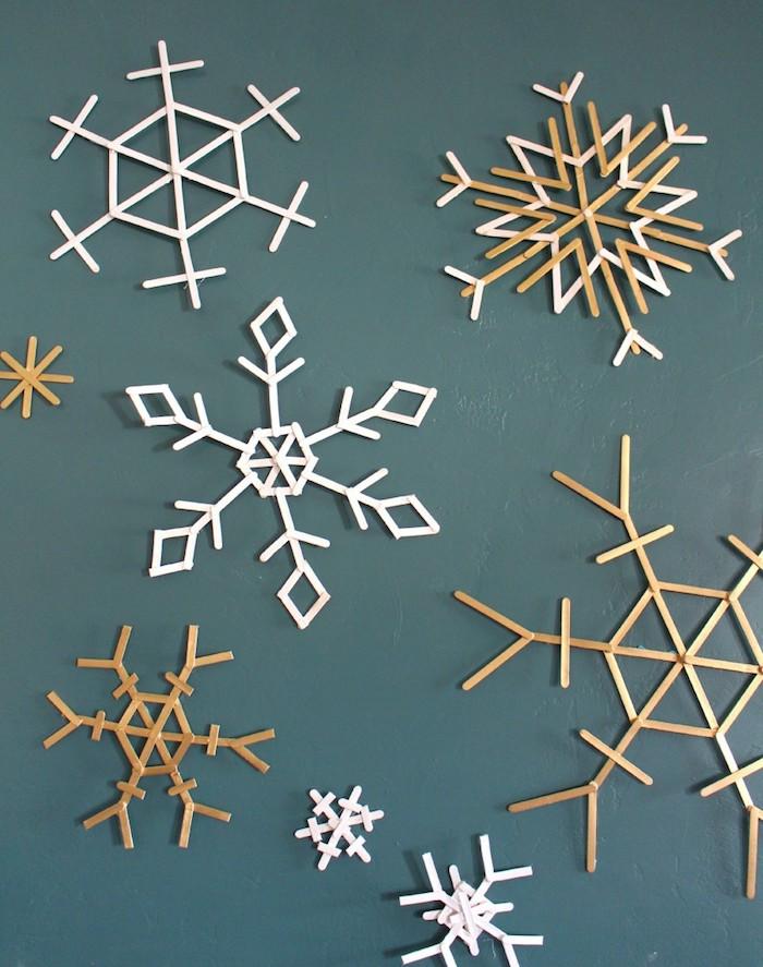 symmetrische schneeflocken basteln