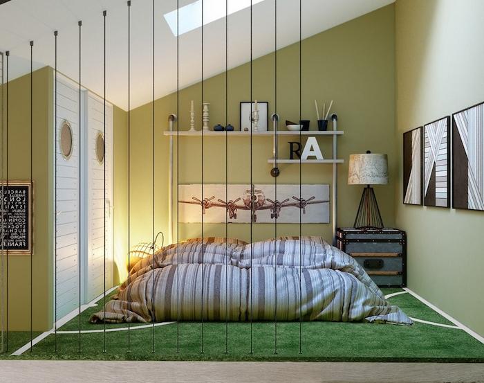 Betten für Teenagers - ein Zimmer im japanischen Stil - Raumteiler von Draht