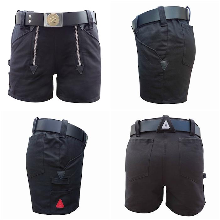 moderne schwarze bermudas - schwarze zunftbekleidung - zunfthose