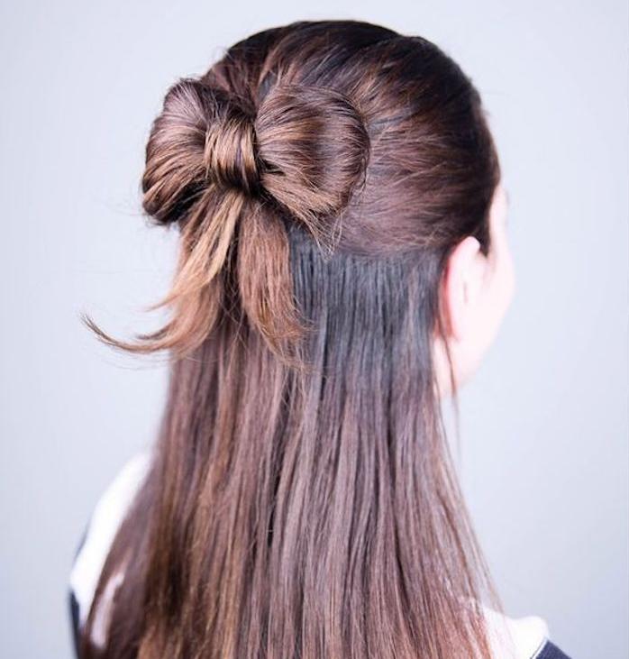 frisurentrends haare wie eine schleife gestalten schöne ideen für jede haarfarbe anleitung