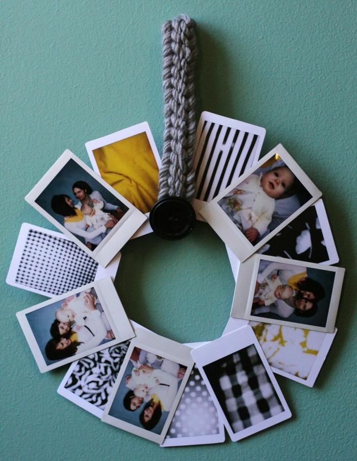Weihnachtskranz aus Fotos selber machen, DIY Ideen für personalisierte Weihnachtsgeschenke